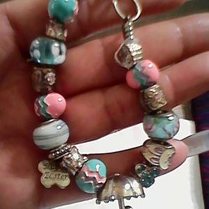 Easter April 17 Charms Bracelet New